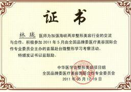 林珑主任成为大陆唯一代表应邀参加由台湾中华医学会主办的台湾首届微整形技术交流会