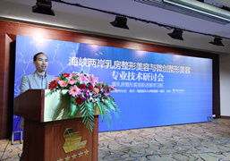 刘剑主任在海峡两岸乳房整形美容与微创整形美容研讨会上发言